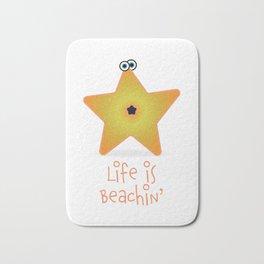 Beachin' Starfish Bath Mat