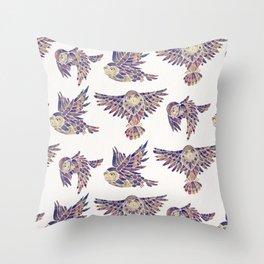 Owls in Flight – Mauve Palette Throw Pillow