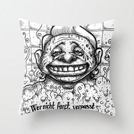 Wer nicht furzt... Throw Pillow