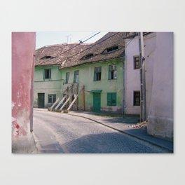 Romanian Works 11 Street Scene Sibiu Canvas Print