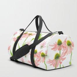 Pink Echinacea Duffle Bag