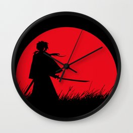 Samurai X Wall Clock