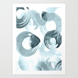 Curling Blue Art Print