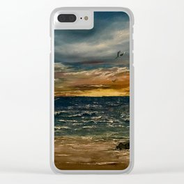 Oil  Painting Clear iPhone Case