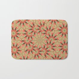 Beautiful day lily kaleidoscope Bath Mat