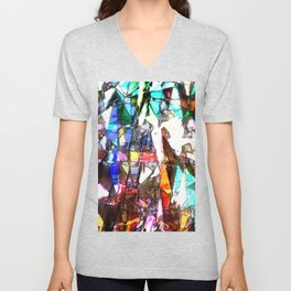 Light Streaming Through Stained Glass Unisex V-Neck