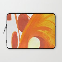 The Caves in Orange and Yellow Laptop Sleeve