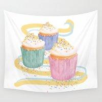 sprinkles Wall Tapestries featuring Sprinkles by Hayley Bowerman Design