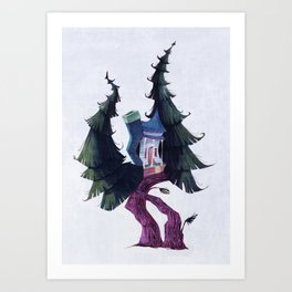 Cabin in the Trees Art Print