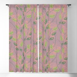botanical pattern Blackout Curtain