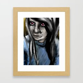 Red Eyes Framed Art Print