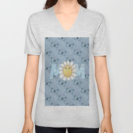 Dreamy Butterflies Roses and Mom Unisex V-Neck