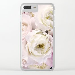 Romantic Roses Clear iPhone Case