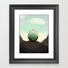 A strange eggs Framed Art Print