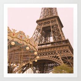 le Carrousel de la Tour Eiffel Art Print