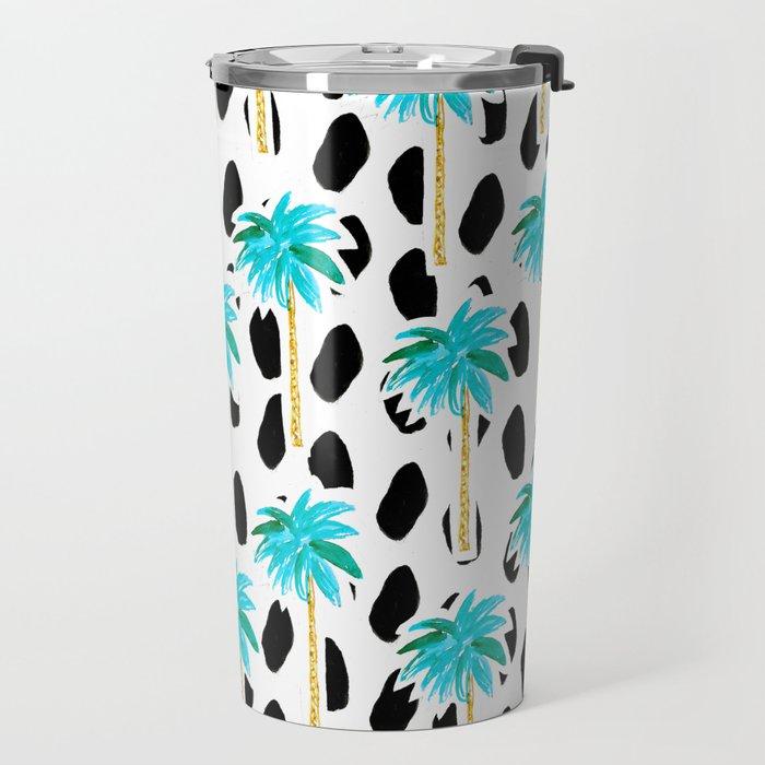 Palm Trees and Dots Travel Mug