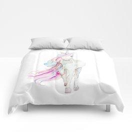 Watercolor Unicorn Comforters