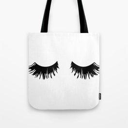 Eyelash Print Tote Bag