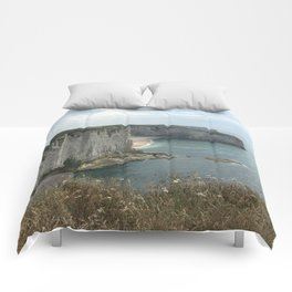 Etretat, France - Coastline Comforters