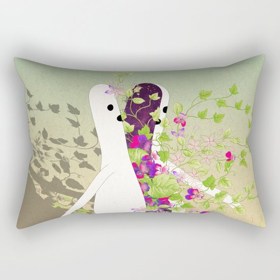 f i o r i t o - i m p r o v v i s a m e n t e Rectangular Pillow