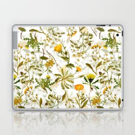 Vintage & Shabby Chic - Yellow Wildflowers Laptop & iPad Skin