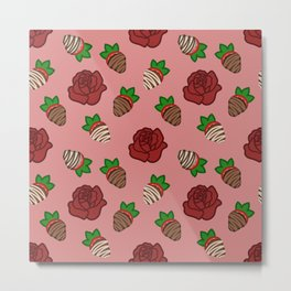 Chocolate Dipped Strawberries Metal Print