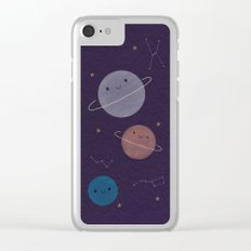 Kawaii Outer Space Clear iPhone Case
