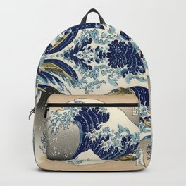 The Great Wave off Kanagawa Symmetry Backpack