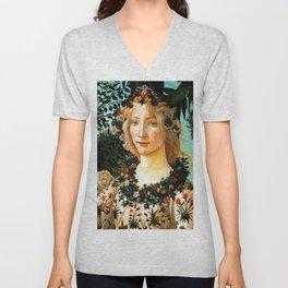 """Sandro Botticelli """"Spring"""" Flora (2) Unisex V-Neck"""