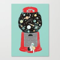 ilovedoodle Canvas Prints featuring My childhood universe by I Love Doodle