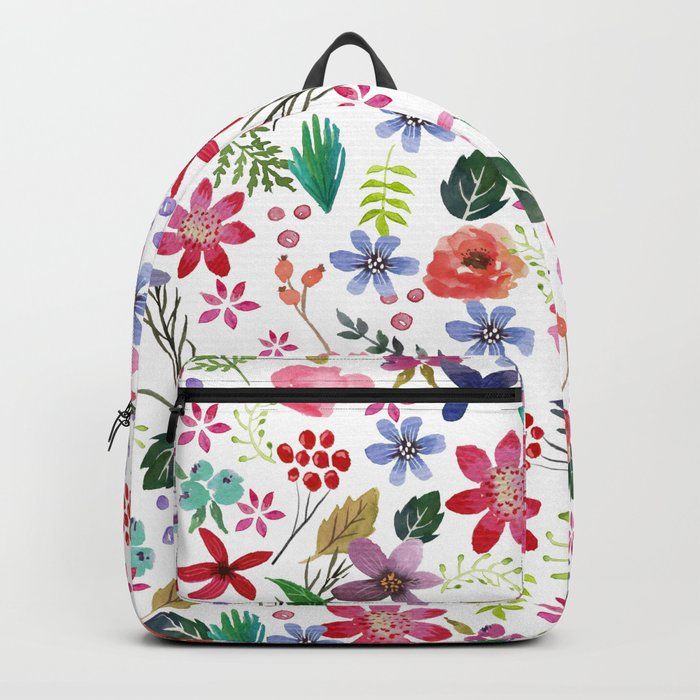 """The earth laughs in flowers"" Backpack"