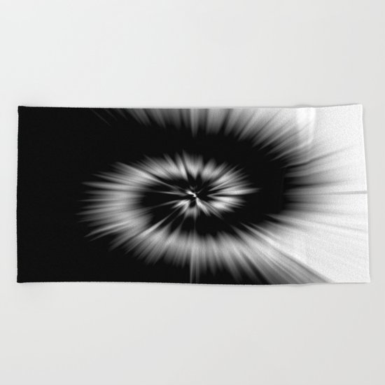 TIE DYE #1 (Black & White) Beach Towel