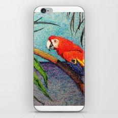 POINTILLISM PARROT iPhone & iPod Skin