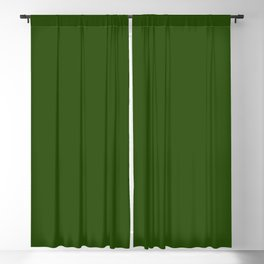 Tread Lightly ~ Forest Green Blackout Curtain