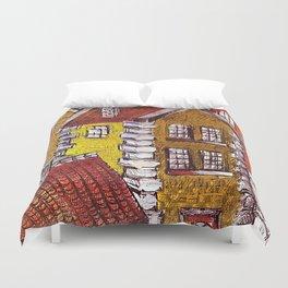 Little Red House Duvet Cover