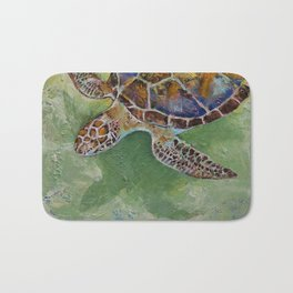 Caribbean Sea Turtle Bath Mat
