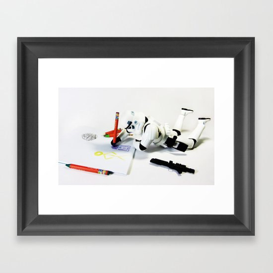 Drawing Droids Framed Art Print