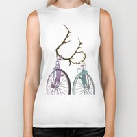 bicycles Biker Tanks featuring Bicycles in Love by Wyatt Design