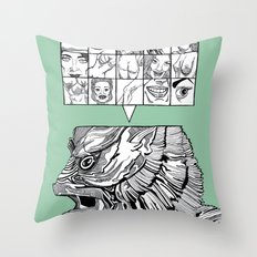 the man the monster Throw Pillow
