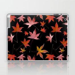 Dead Leaves over Black Laptop & iPad Skin