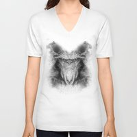 sasquatch V-neck T-shirts featuring Sasquatch by Zandonai