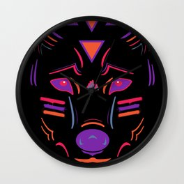 Eighties Wolf Wall Clock