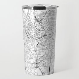 Nashville White Map Travel Mug