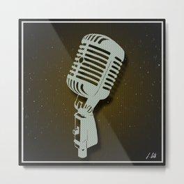 Classic Microphone Metal Print