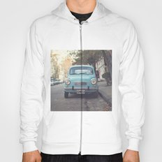 Mint - Blue Retro Fiat Car  Hoody