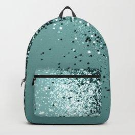 Teal Mermaid Ocean Glitter #1 #shiny #decor #art #society6 Backpack