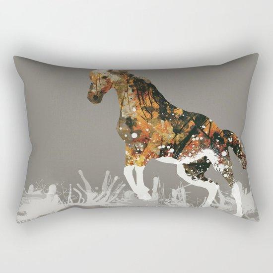 Ice Horse Rectangular Pillow