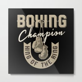 Sports - Heavyweight - King Of The Ring Metal Print
