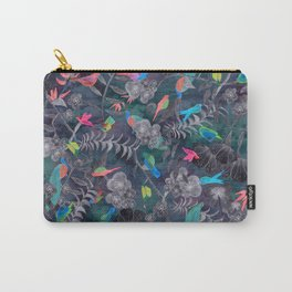 Birds and Flowers Color Pencil Carry-All Pouch