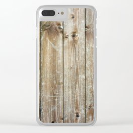 Rustic Wooden Plank Texture Clear iPhone Case